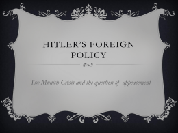 Hitler*s Foreign Policy - vcehistory