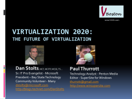 The Future of Virtualization (new)