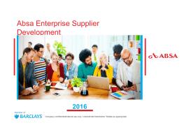 ABSA Enterprise Supplier Development