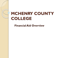 MCHENRY COUNTY COLLEGE Financial Aid Overview