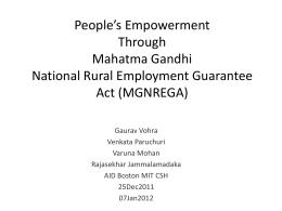 MGNREGA - AID Projects Database