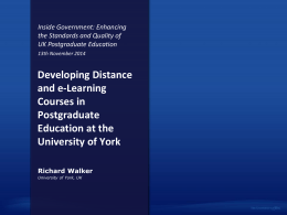 Developing Distance and e-Learning Courses in