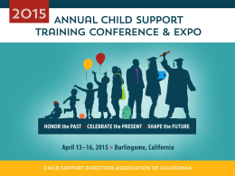 PowerPoint - CHILD SUPPORT DIRECTORS ASSOCIATION of
