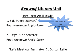 Beowulf Notes Presentation