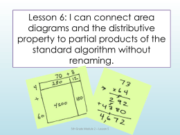 Lesson 6: I can connect area diagrams and the distributive property