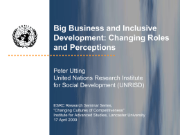 Regulating for Social Development