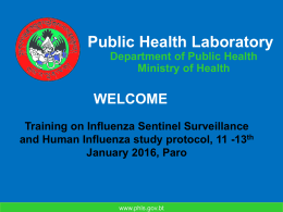 PowerPoint Presentation - Public Health Laboratory