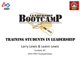 Leadership Boot Camp: Training Your Students