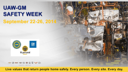 UAW-GM Health and Safety Week Photo Entry