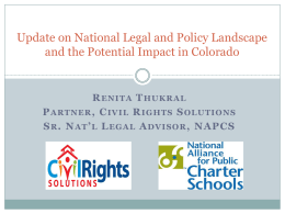 National Legal and Policy Update