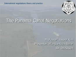 ThePanamaCanalNegotiations