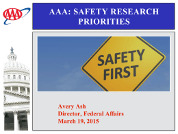 AAA: Safety research priorities
