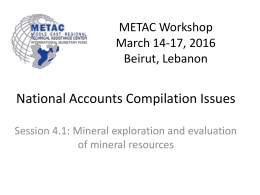 Mineral exploration and evaluation of mineral resources