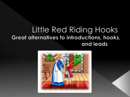 Little Red Riding Hooks PowerPoint