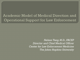 Academic Model of Medical Direction and Operational Support for