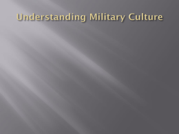 Understanding Military Culture - Mental Health America of Wisconsin
