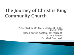 The Spiritual Journey of CKCC - Christ is King Community Church