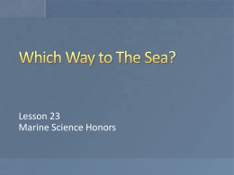 File - Ms. Carlson`s Biology and Honors Marine Science