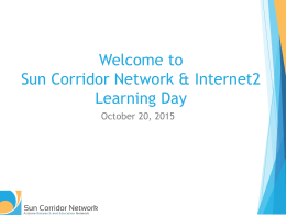 Presentation - Sun Corridor Network