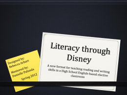 Literacy through Disney - Wyoming Scholars Repository