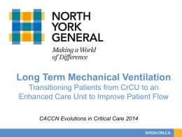 Long Term Mechanical Ventilation Patients