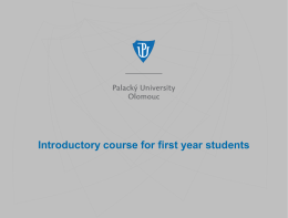 Introductory course for first year students - LF