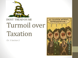 Turmoil over Taxation