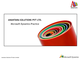 Dynamics Products - Anantara Solutions Private Limited