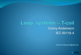 T-coil Loop System
