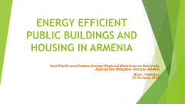 energy efficient public buildings and housing in armenia