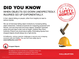 Safety Moment #19 - Dropped Objects