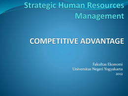Strategic Human Resources Management COMPETITIVE