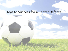 Managing The Game As A Solo Referee
