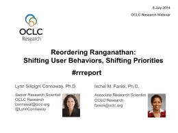 Reordering Ranganathan