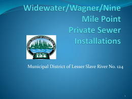 Widewater/Wagner/Nine Mile Point Private Sewer Installations
