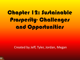 Chapter 12: Sustainable Prosperity- Challenges