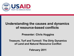 Resource Based Conflicts - Land Tenure and Property Rights Portal