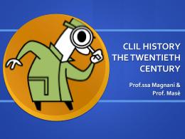 clil history the twentieth century