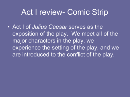 Act I review- Comic Strip
