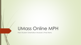 UMass Amherst MPH-PHP