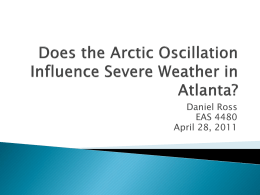 Does the Arctic Oscillation Influence Severe Weather in Atlanta?