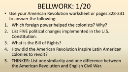 Revolutions in South America