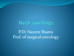 How do we differentiate neck swellings?