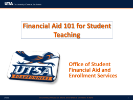 Powerpoint - UTSA College of Education