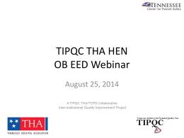 TIPQC THA HEN OB EED Webinar