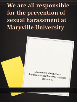 Sexual Harassment - Maryville University