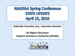 State Update Association of Independent College and
