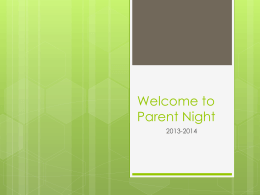 8th Grade Handbook Open House PowerPoint