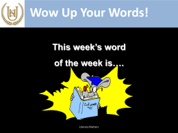 Word of the week 04.01.16