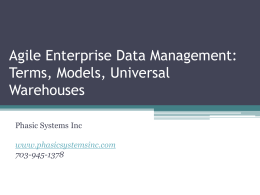 Agile Enterprise Data Management: Terms, Models - Dama-NY